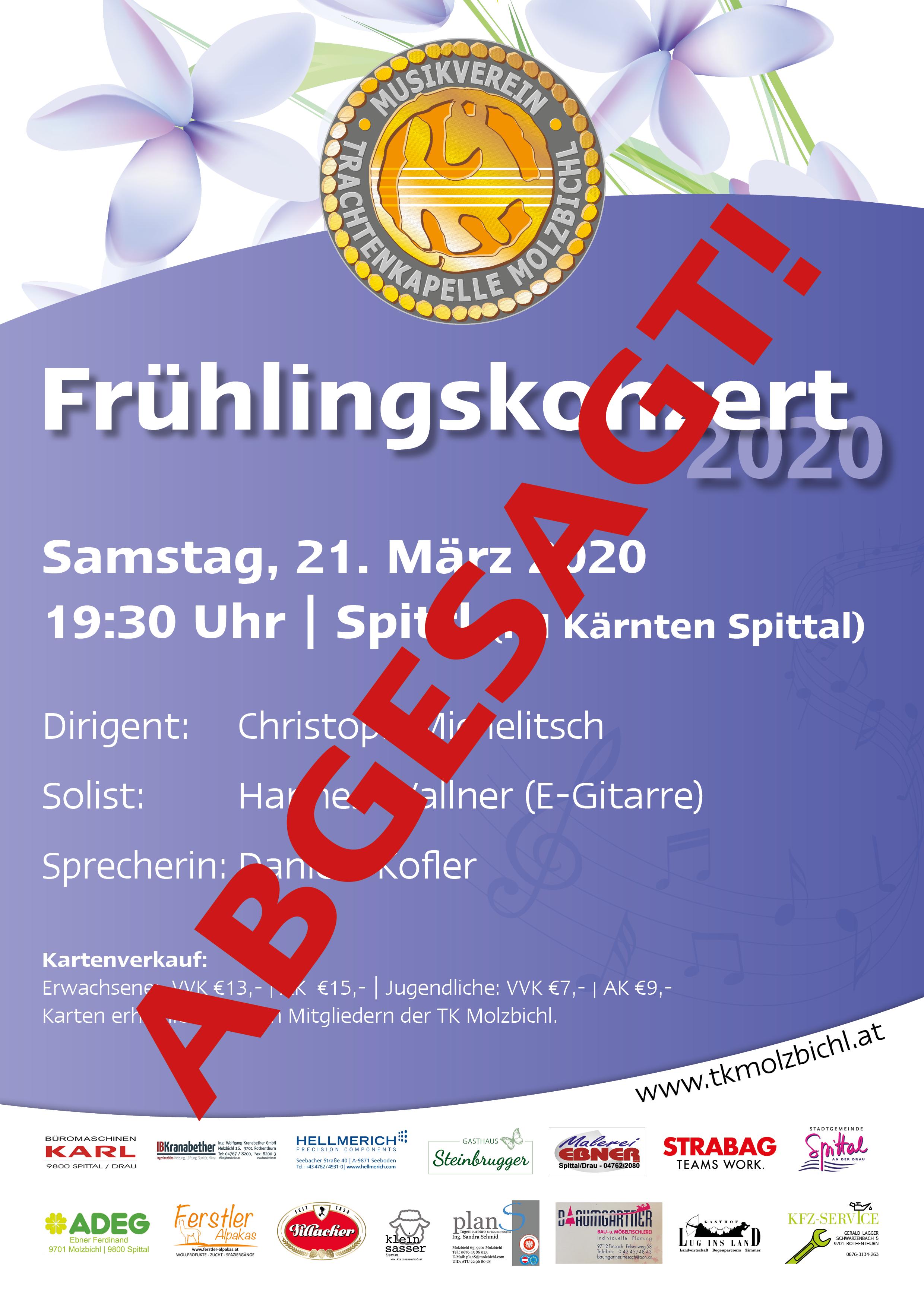 ABGESAGT: Frühlingskonzert 2020