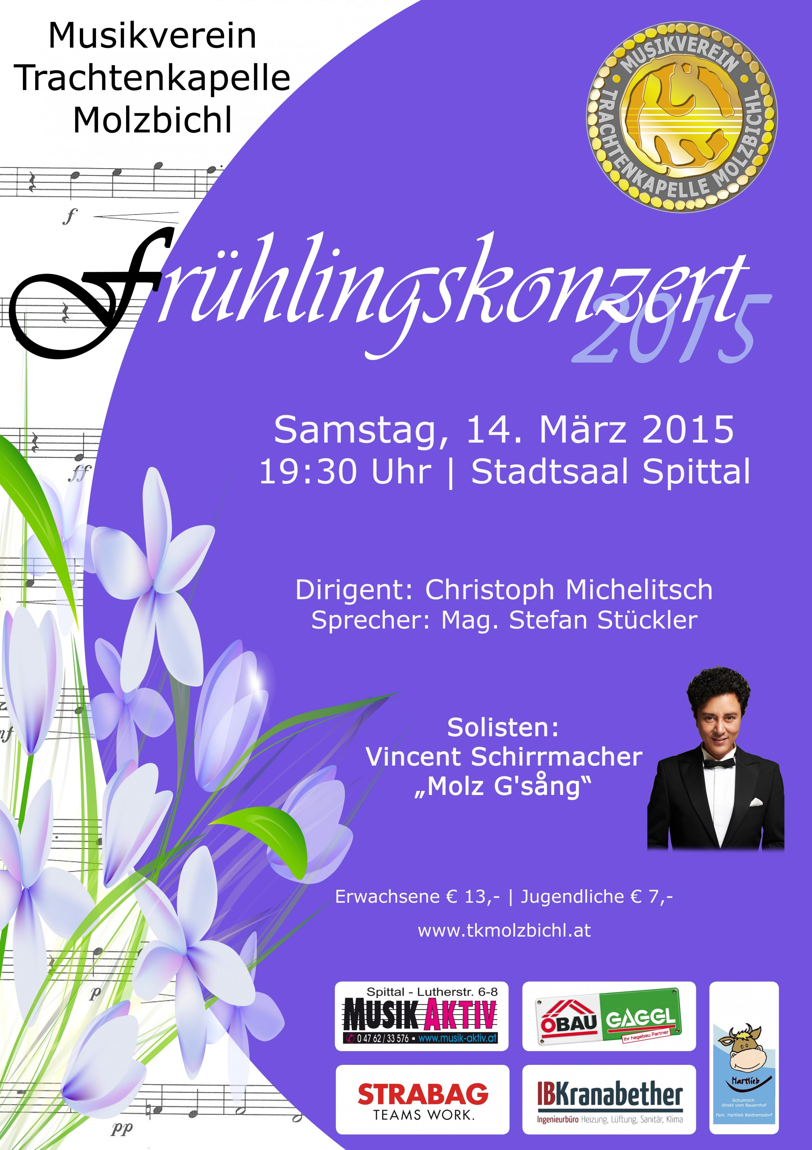 Frühlingshafte Blasmusikklänge des Musikvereins...